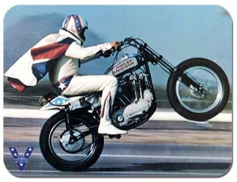 Evel Knievel Mouse Mat. Motorcycle Motorbike 70s Stunt Rider Mouse Pad